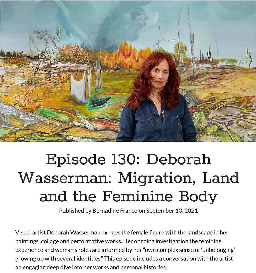 "Deborah Wasserman on Podcast ""Beyond the Paint with Bernadine"