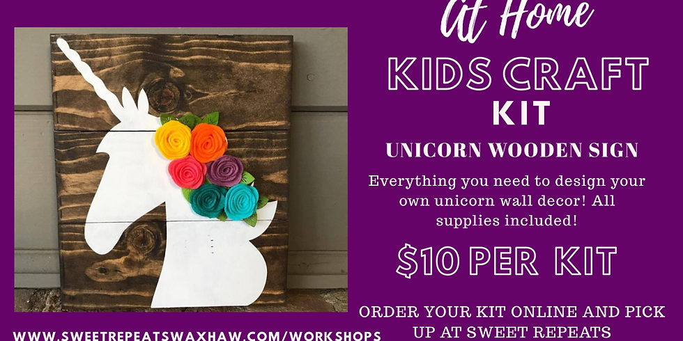 At Home Unicorn Wooden sign Kit