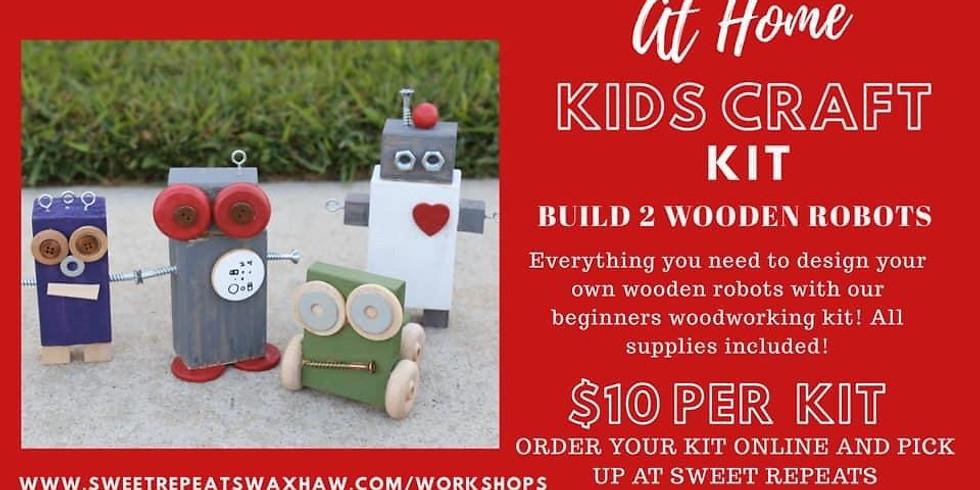 Kids At Home Wooden Robots kit