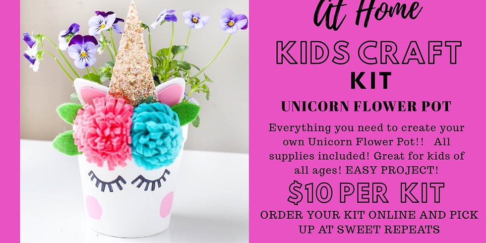 Kids Unicorn Flower Pot Kit