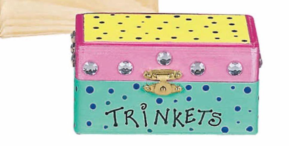 AT HOME Kids Painted Trinket Kit
