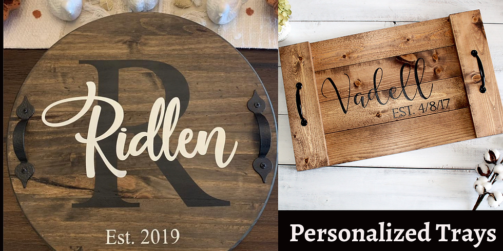 Personalized wood tray workshop