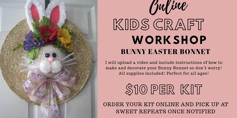 Kids ONLINE Bunny Bonnet Craft Kit