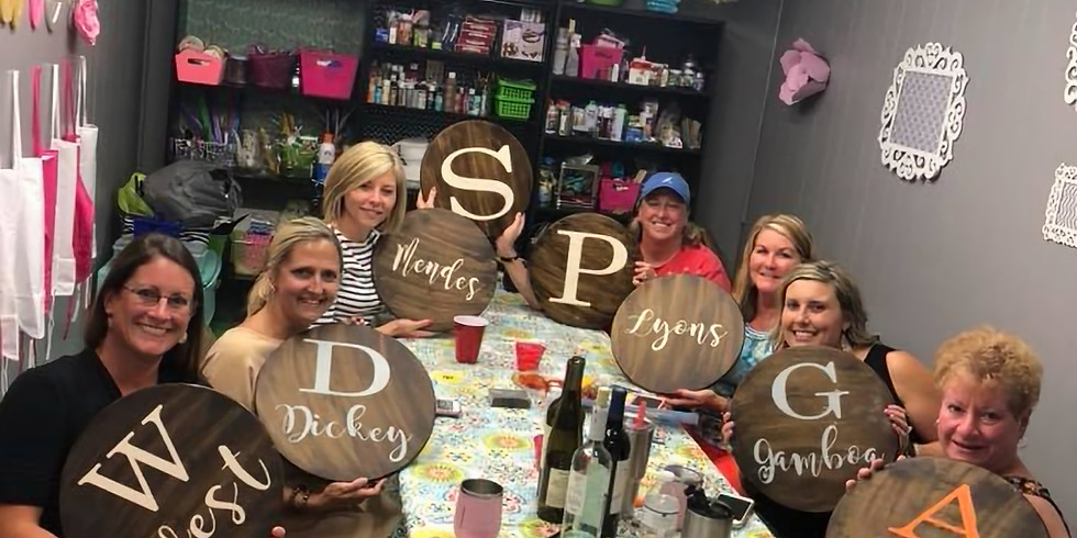 Girls Afternoon Out! Sipping and Making a personalized Lazy Susan