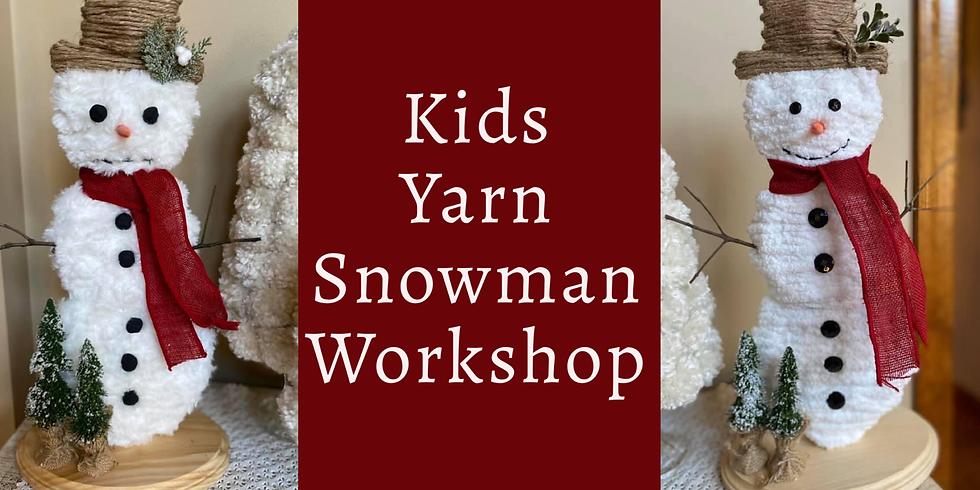 Kids Yarn Snowman Workshop