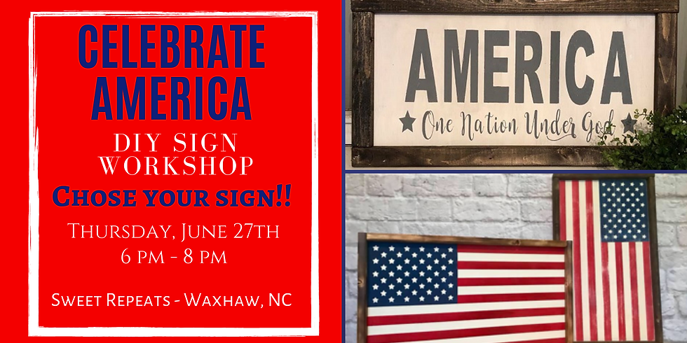 Ladies Night Out - Americana Sign Workshop