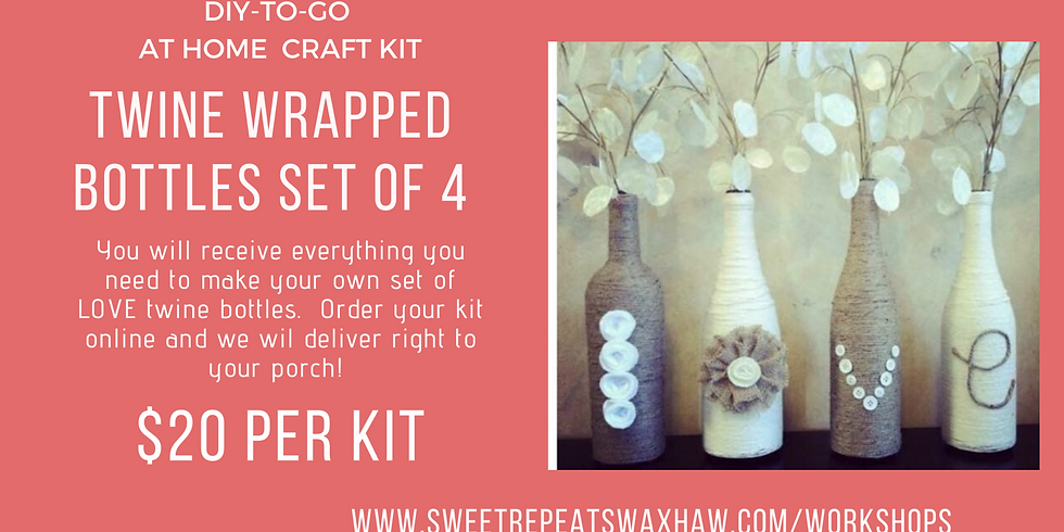At Home Twine Wrapped Bottles Kit