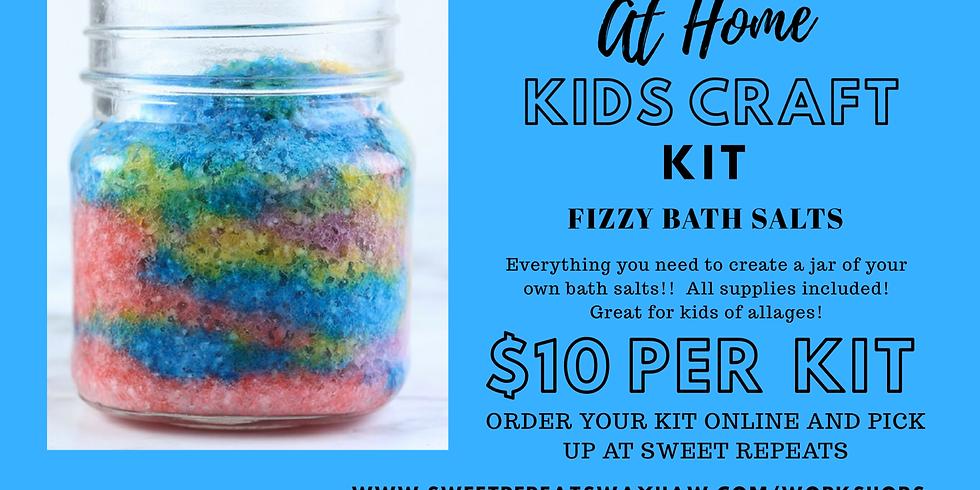 Kids Unicorn Fizzy Bath Salts kit