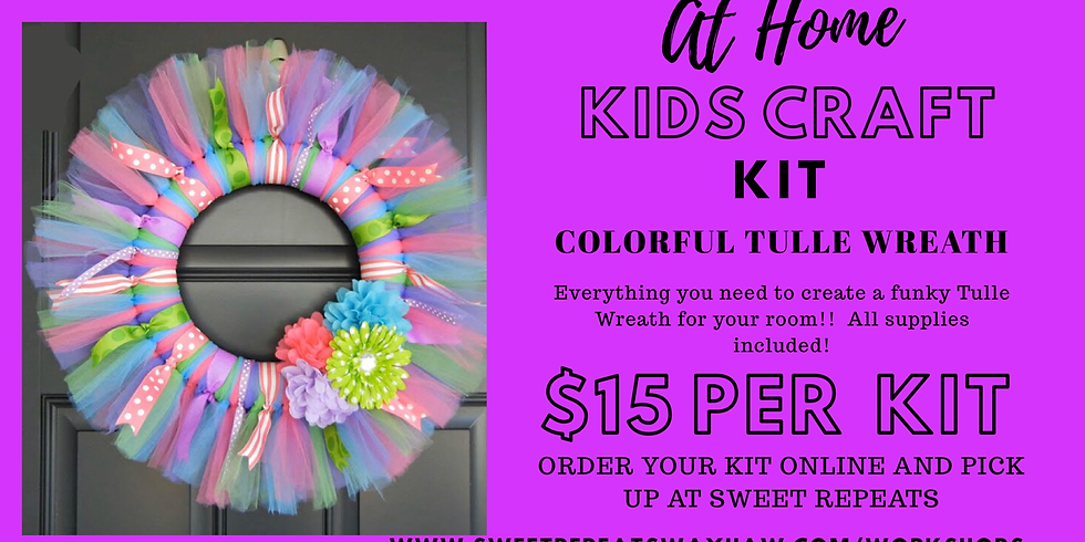 At Home Colorful Tulle Wreath Kit