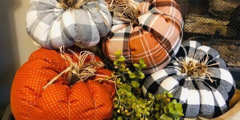 Kids Fabric Pumpkin Workshop