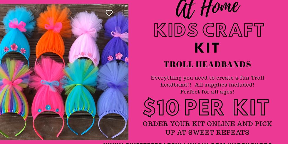 At Home Troll Headband Kit