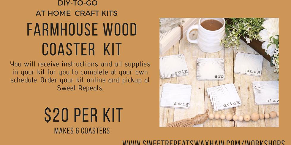 Farmhouse Wood Coaster Kit