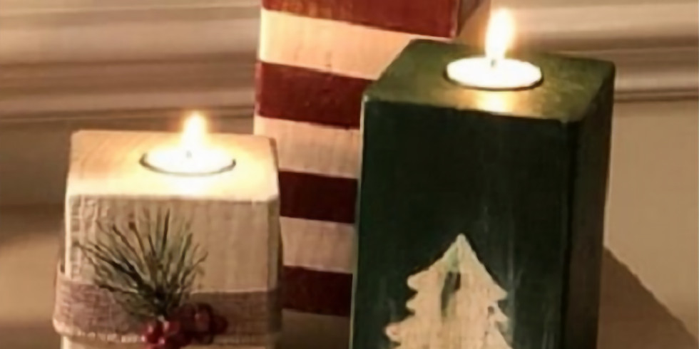 Set of 3 Christmas Candle Holder Workshop - Ladies Night Out!