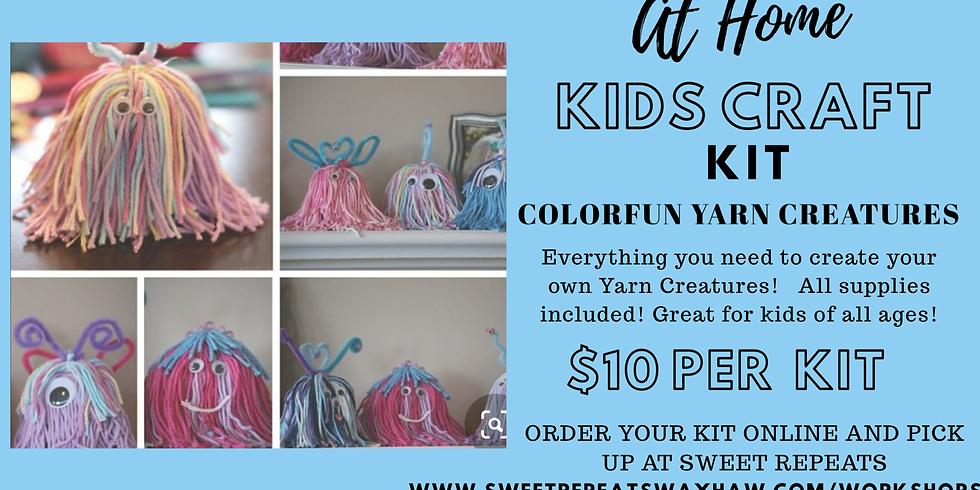 Kids At Home Colorfun Yarn Creatures