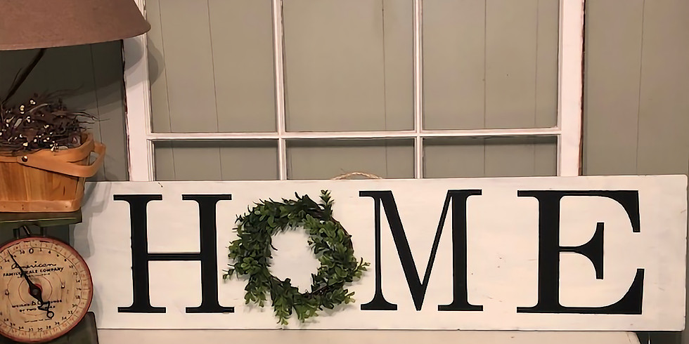 Ladies Night Out - Home Sign with Wreath Workshop