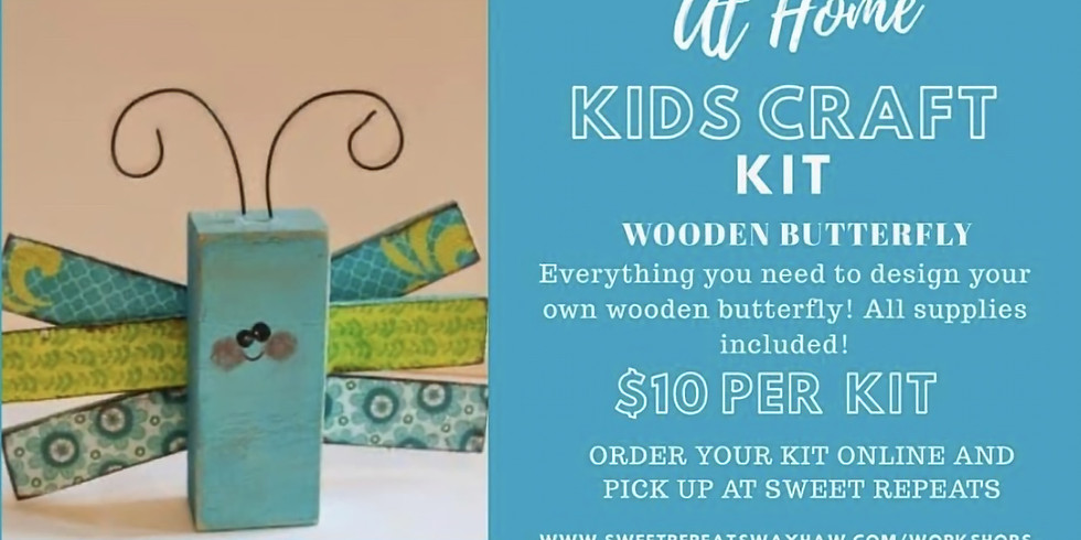 AT HOME Wooden Butterfly Kit