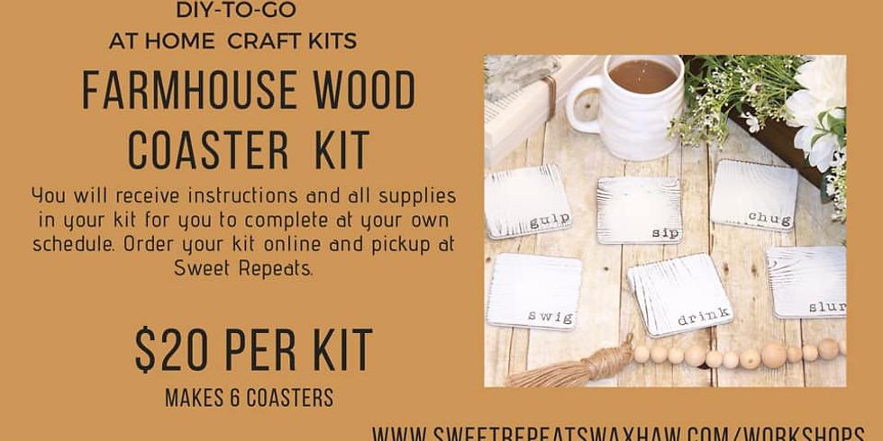 At Home - Farmhouse Wood Coasters Kit