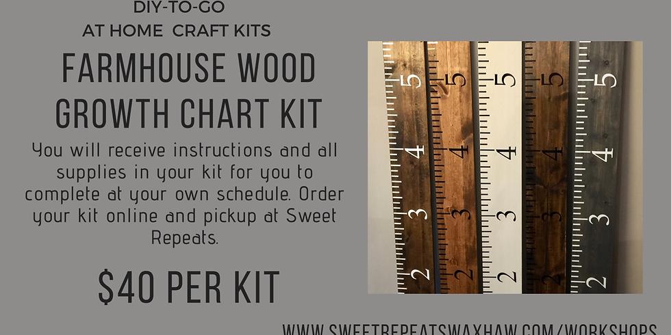 DIY sat home - Growth Chart Kit