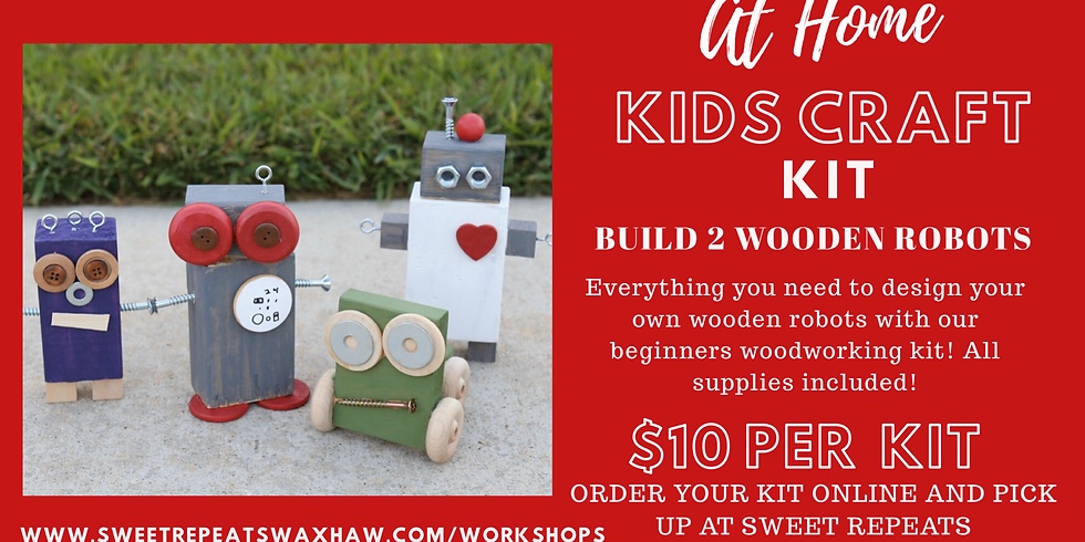 Build your own wooden robots at home
