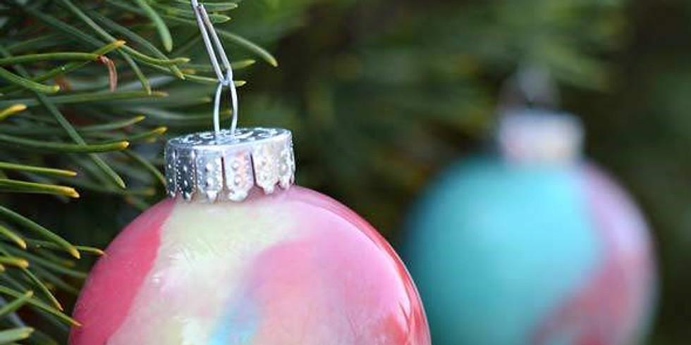 Kid's Swirled Paint Ornament Workshop-FULL