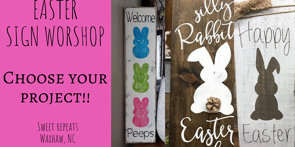 Easter sign workshop