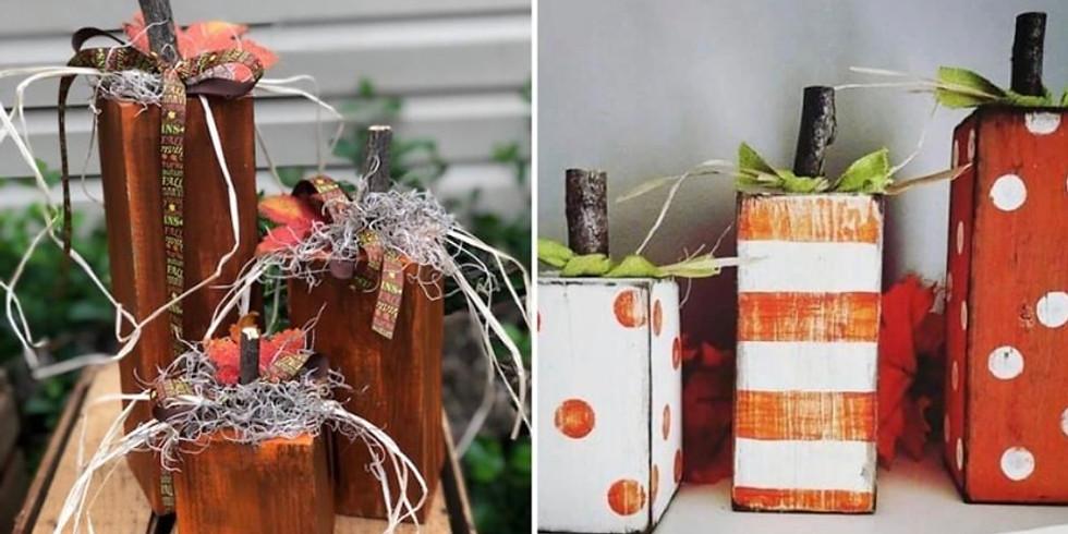 At Home Wood Pumpkin Kit-Set of 3