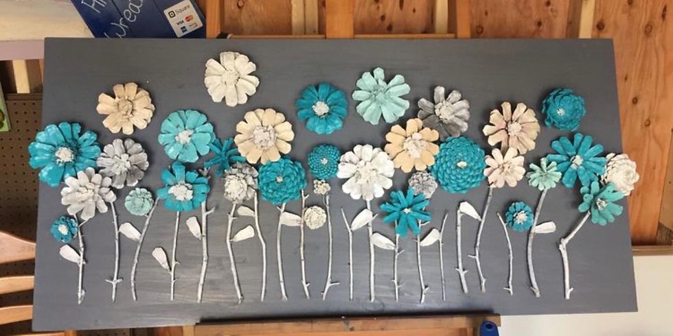 Pinecone floral sign workshop