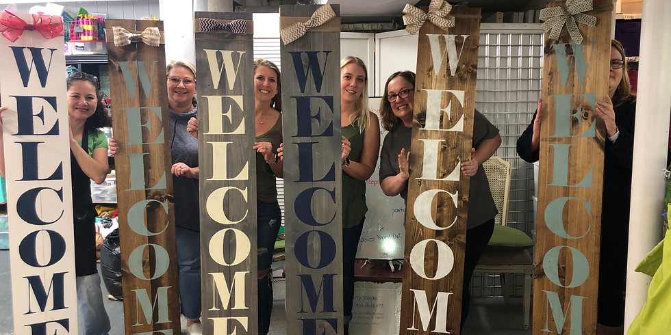 Moms At Home 6 ft Welcome Sign Kit