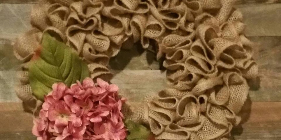 Pick Your Project - Burlap Ruffle Spring Wreath Workshop