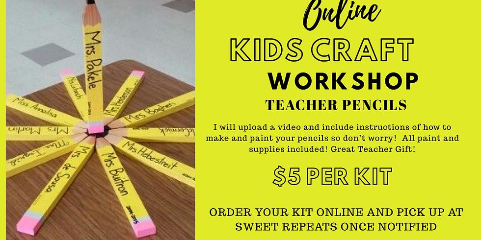 Kids ONLINE Wood Pencil Craft Kit