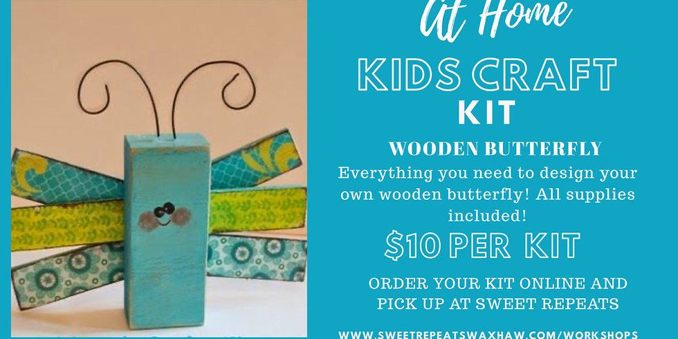Kids Wooden Butterfly Kit