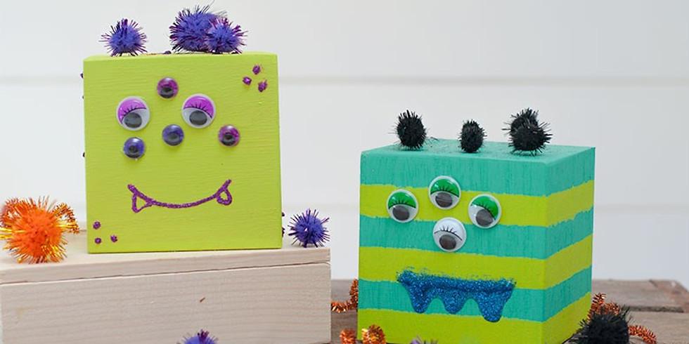 Kids Wood Block Monsters!