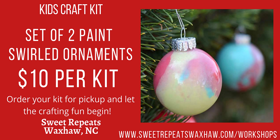 At Home Craft Kit-Paint Swirl Ornaments