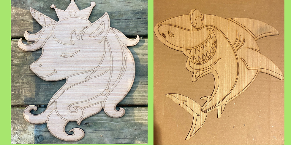 Kids Unicorn/Shark Wood Painting workshop