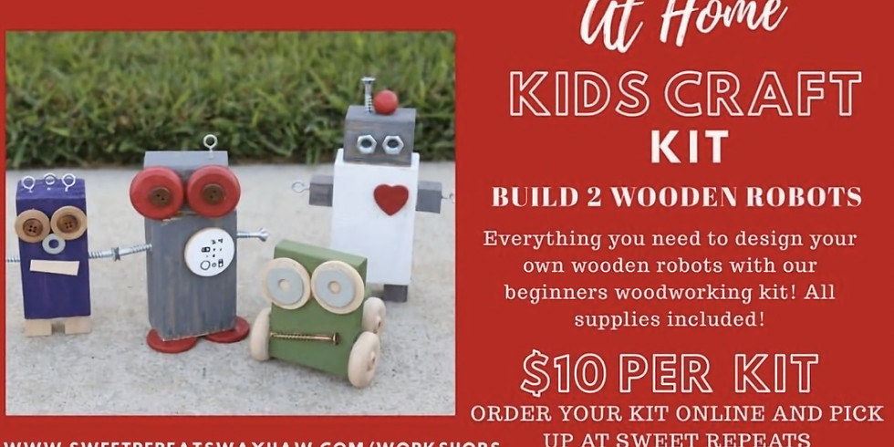 AT HOME Wooden Robots Kit