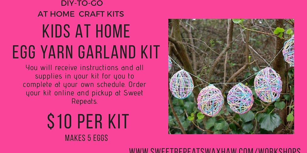 Kids At Home Egg Yarn Garland Kit