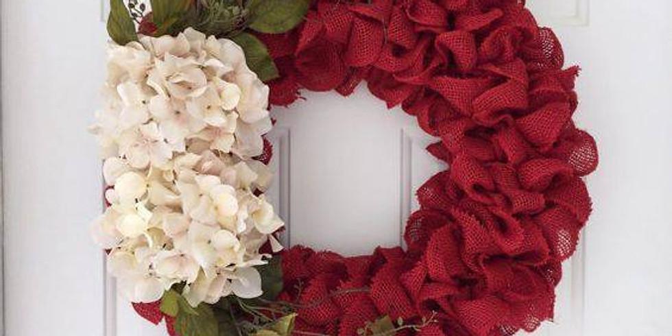 Christmas Burlap Wreath Class