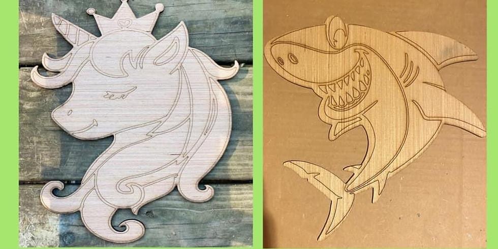 Kids Unicorn or Shark Paint Workshop