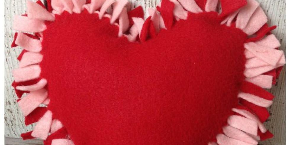 Kids No-Sew Heart Valentines Pillow Workshop