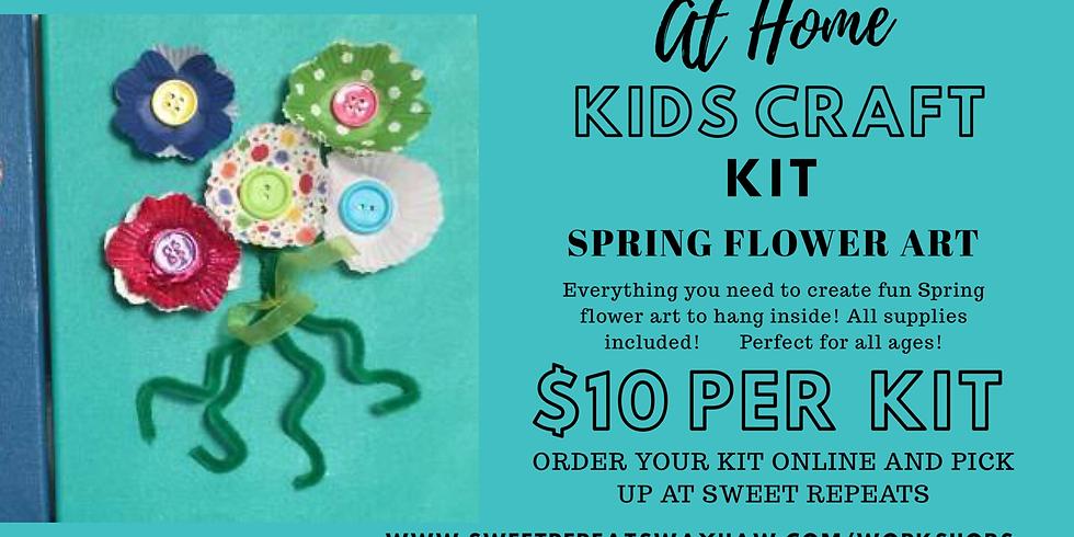 At Home Spring Flower Canvas Art kit
