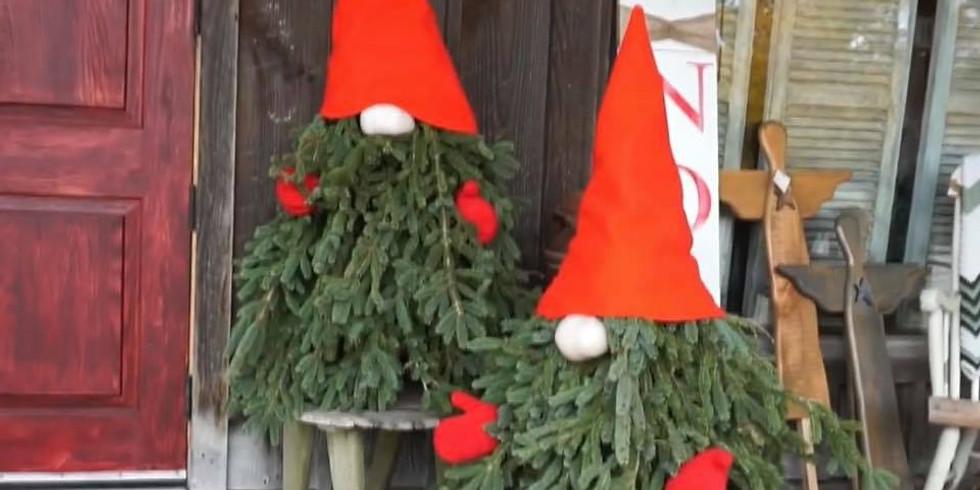 Evergreen Porch Gnome  Workshop