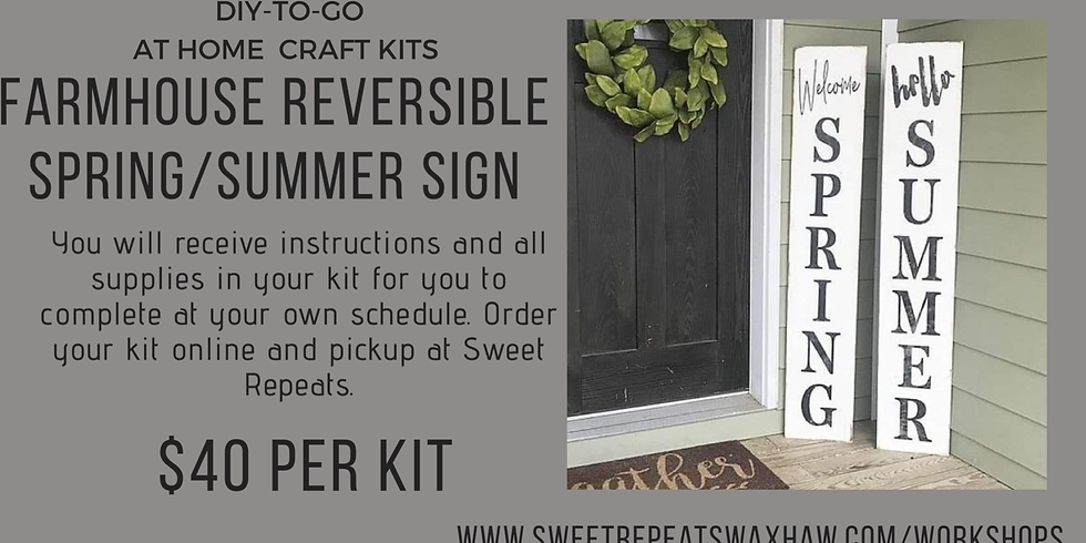 Reversible Porch sign kit