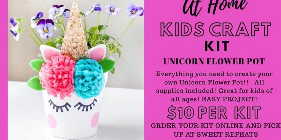 AT HOME  Unicorn Flower Pot Kit