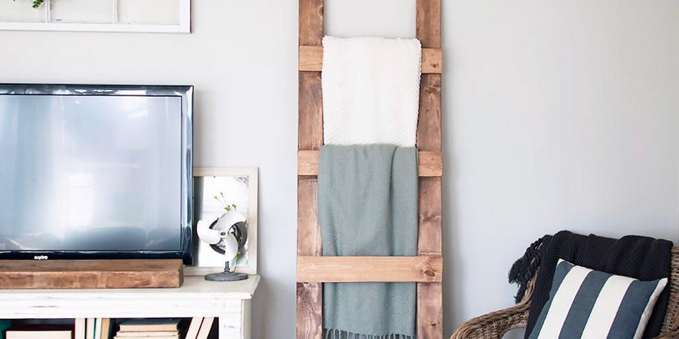 Farmhouse Blanket Ladder Workshop