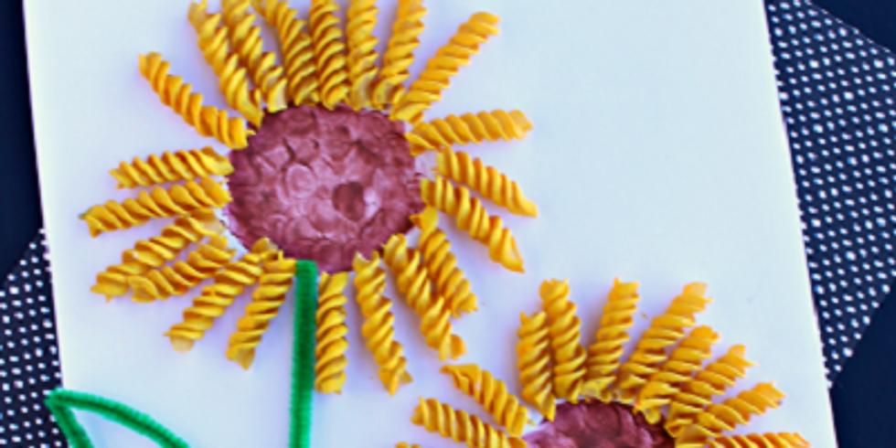 Kids Workshop - Sunflower Art on canvas