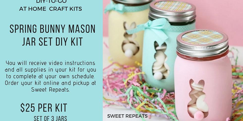 DIY To Go-Spring Bunny Mason Jar Set of 3- Kit
