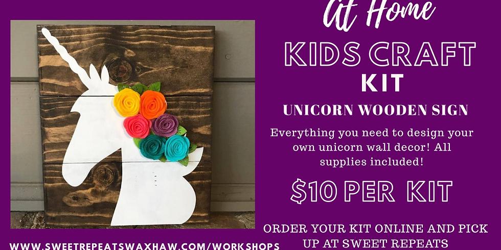 DIY kids Unicom Wall Art kit