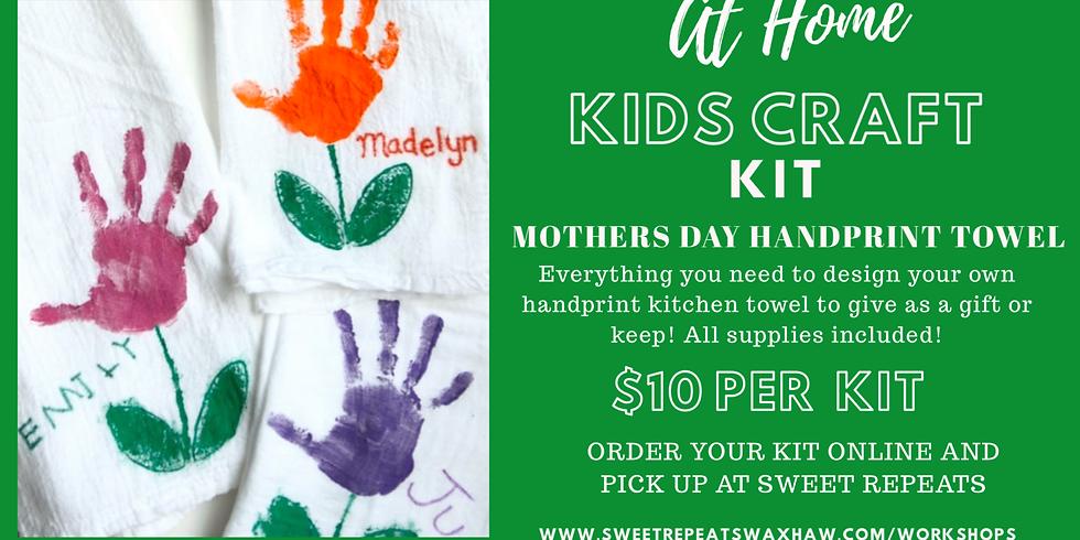 Kids Craft-Mothers Day Handprint Towel Kit