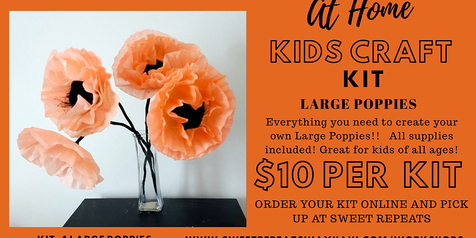 Kids At Home Large Poppies