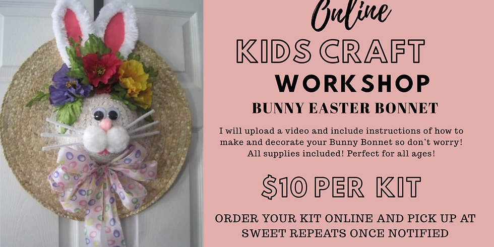 At Home Bunny Easter Bonnet